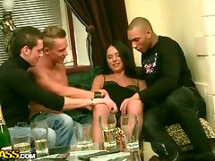 Drinking, Banging, Blowjob, Brunette, Drinking, Drunk