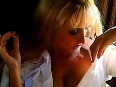 Bus, Blonde, Bus, Classic, Fetish, Smoking