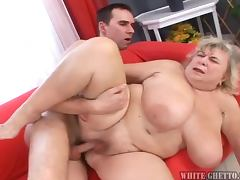 Chubby Grandma Gets Some Good and Hardcore Sex With a Guy