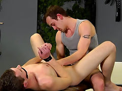 Gay anal fisting for a bound boy