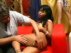 KRISS EBONY audition lap dance and buggered tube porn video