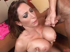 Busty MILF Gets Creamed all Over in a Hardcore Clip