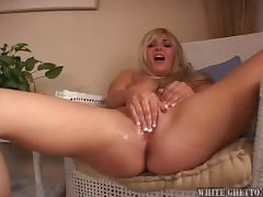 Blonde Cutie Takes A Facial From Big Dick
