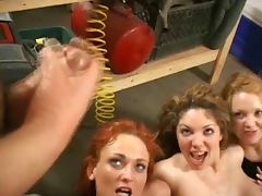 Hot Orgy in a Garage