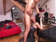 Two lovely girls getting fucked bruntally in both their holes