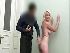 Blonde undress on the ottoman fake agent