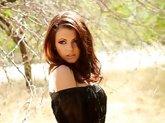 Stunning Bethanie Badertscher shows her naked body in the grove