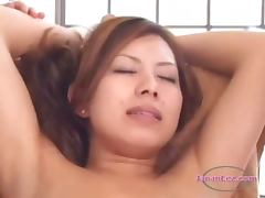 Asian Girl With Handcuffes Fingered Nipples Vacumend By 3 Masseuses On The Massage Bed