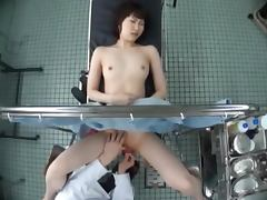 Shizuku Hasegawa gets her pussy examined and stuffed with toys