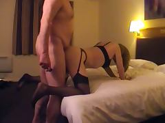Homemade anal with a crosdresser in lingerie porn tube video