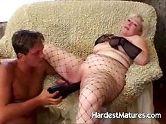 Grandma playing naughty whore