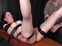 Painful electro shock for taped down girl tube porn video