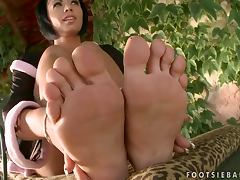Cassy gives a perfect footjob after riding a hard cock