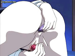 Anime milf masturbating with dildos