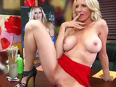 Blonde hottie Emma Starr titjob and fuck tube porn video