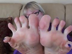 Foot close up tease