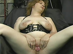 Her flogged tits take marks from him