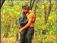 The Leather Boys in forest tube porn video