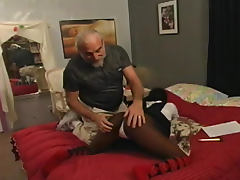 Black girl in uniform spanked on the ass