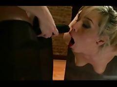 Dom Lesbian Anal Fucks Bound Girl with Strapo