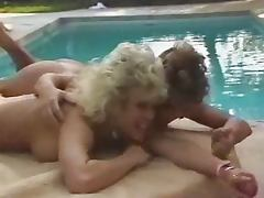 Candie Evans and Amber Lynn do it dirty