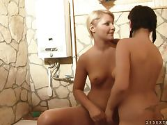 Lana S pleases her lesbain friend Sheala Brill with fisting