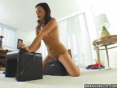 Horny slut Brandi Belle with her fucking machines porn tube video