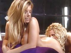 Lesbian blondes passionate pussy play tube porn video