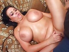 Busty girl enjoys every second