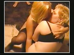 Chubby Threesome porn tube video