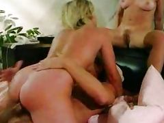 Barbara Dare and April West with Joey Silvera