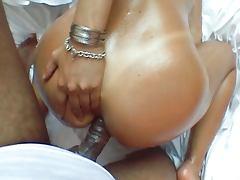 Horny slut play with cock