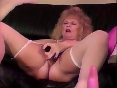 Aged, Aged, Blonde, Blowjob, Dildo, Masturbation