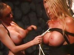 Lesbian mistress dominates blonde porn tube video