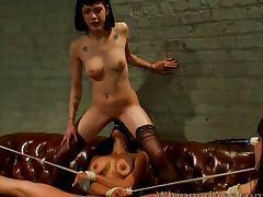 Lesbian lockdown tube porn video