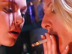 Smoking fetish chicks having fun tube porn video