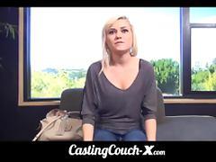 CastingCouch X stupid whore 20yo tries porn