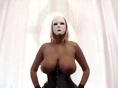 Dominas in corset and nylons Big tits and pumped pussy porn tube video