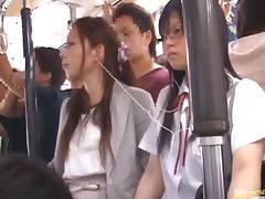 Shameless Naughty Japanese Teens Having Fun with Cocks in Public Bus tube porn video