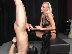 Domination, Ass Licking, Blonde, Boots, Domination, Heels