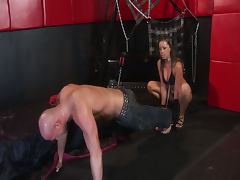 Mean girl punishes her slave