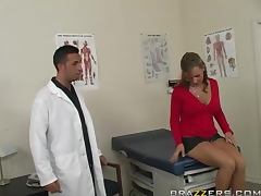 Lewd doctor Keiran Lee fucks his sexy patient Nikki Sexx tube porn video