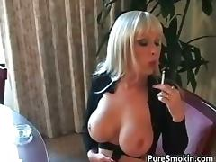 Weird blond chick Layla Jade smokes part2 porn tube video