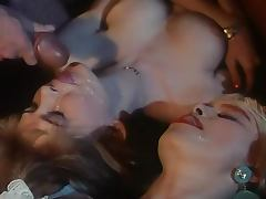 Retro porn video with sexy blonde getting fucked hard