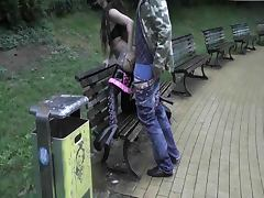 Cindy fucked in the park