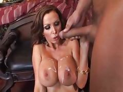 Busty Nikki Benz went brunette for this