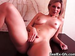 My ex fingers her hot pussy