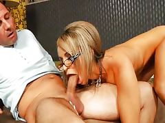 Aleska Diamond With Glasses and David Perry