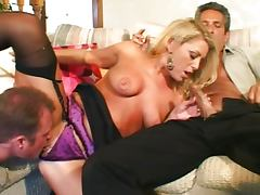 Ethnic, Cumshot, Double, Ethnic, Threesome, Shaved Pussy