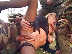 Wife gangbanged by soldiers tube porn video